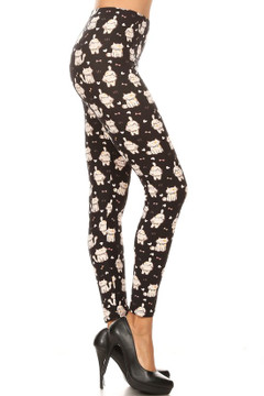 Wholesale Buttery Soft Bow Tie Kitty Cats Leggings