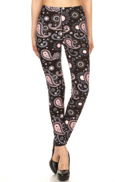Wholesale Buttery Soft Plus Size Happy Paisley Leggings
