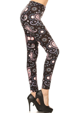 Wholesale Buttery Soft Plus Size Happy Paisley Leggings - 3X-5X