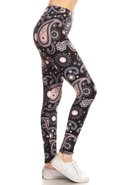Wholesale Buttery Soft Happy Paisley Yoga Leggings