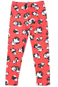 Wholesale Buttery Soft Cute Red Panda Kid's Leggings