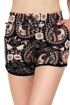 Wholesale Buttery Soft Earthen Mandala Dolphin Shorts