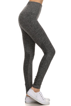 Wholesale Heathered Athletica Workout Leggings