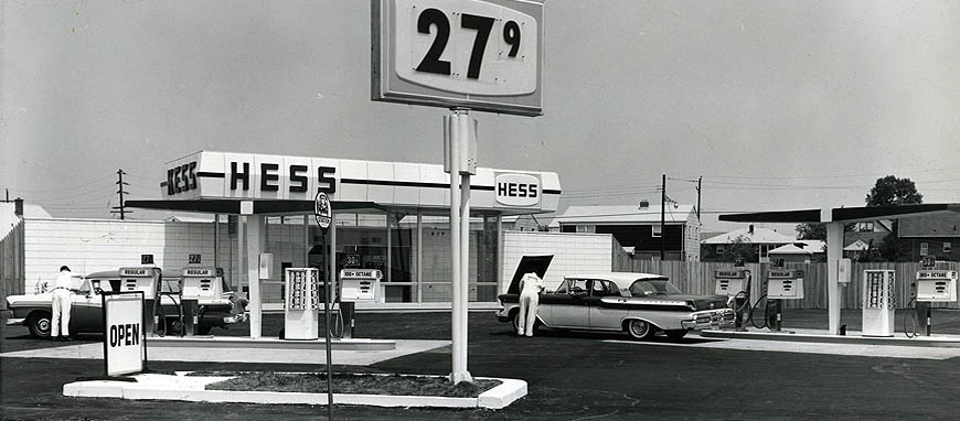 First Hess Gas Station in NJ 1960
