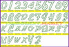 AIR STEAM Machine Embroidery Designs Fonts Instant Download