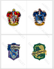 HARRY POTTER RAVENCLAW GRYFFINDOR HUFFLEPUFF SLYTHERIN EMBROIDERY MACHINE DESIGNS INSTANT DOWNLOAD