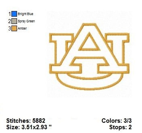 University Auburn Tigers football College Sports Team Applique Machine Embroidery Designs Instant Download
