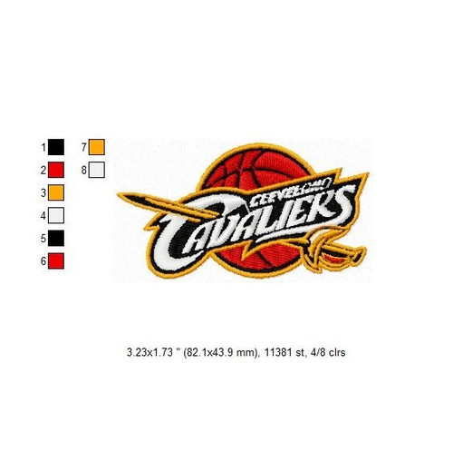 Cleveland Cavaliers NBA Basketball Team Sports Embroidery Designs Download