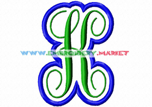 MONO KK  Machine Embroidery Designs Fonts Instant Download