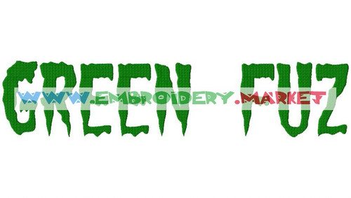 GREEN FUZ  Machine Embroidery Designs Fonts Instant Download