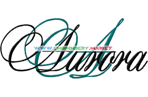 AURORA Machine Embroidery Designs Fonts Instant Download
