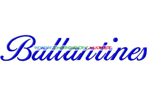 BALLATINE Machine Embroidery Designs Fonts Instant Download