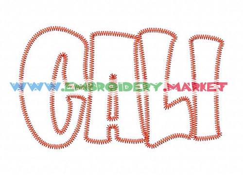 CALI ZAPP Machine Embroidery Designs Fonts Instant Download