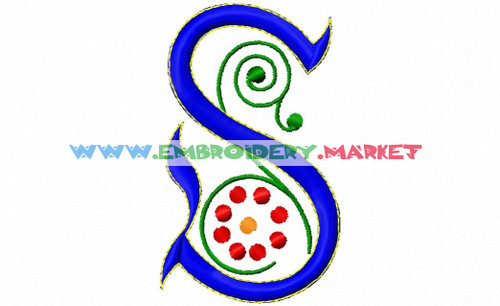 SPRING MONOGRSM Machine Embroidery Designs Fonts Instant Download