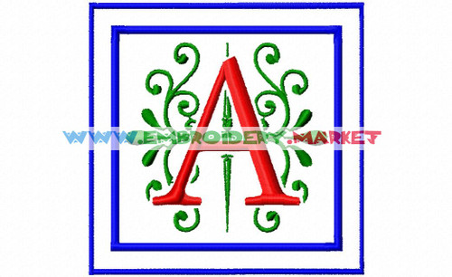 APEX MONOGRSM Machine Embroidery Designs Fonts Instant Download