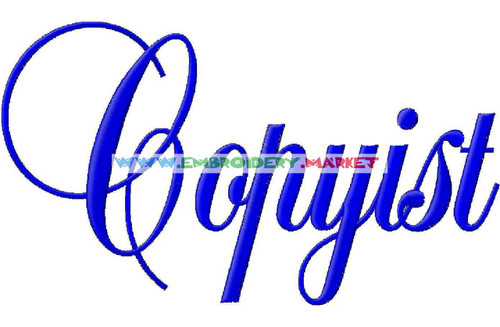 COPYIST Machine Embroidery Designs Fonts Instant Download