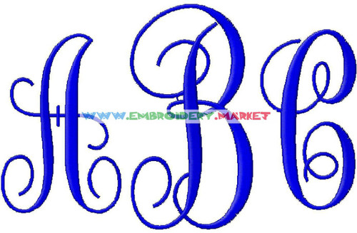 FANCY MONOGRAM Machine Embroidery Designs Fonts Instant Download