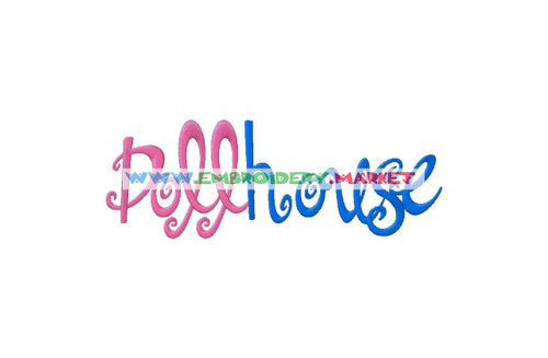 DOLL HOUSE Machine Embroidery Designs Fonts Instant Download