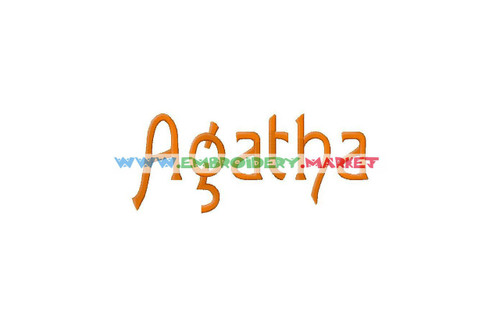 AGATHA Machine Embroidery Designs Fonts Instant Download