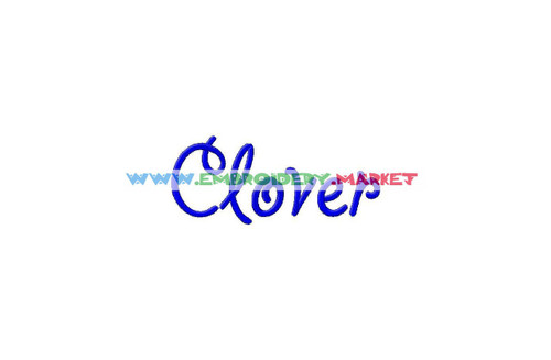 CLOVER Machine Embroidery Designs Fonts Instant Download
