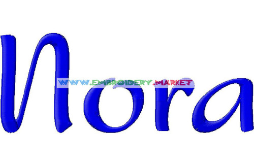 NORA Machine Embroidery Designs Fonts Instant Download