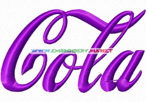 LOKI COLA Machine Embroidery Designs Fonts Instant Download