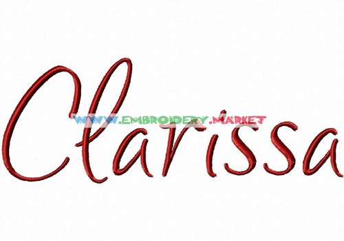 CLARISSA Machine Embroidery Designs Fonts Instant Download