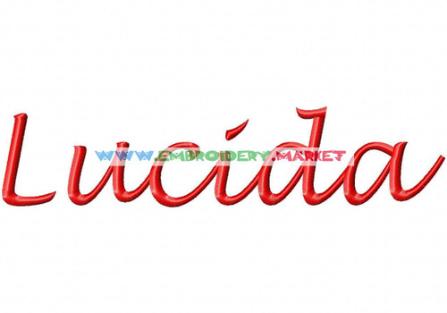 TR LUCIDA Machine Embroidery Designs Fonts Instant Download