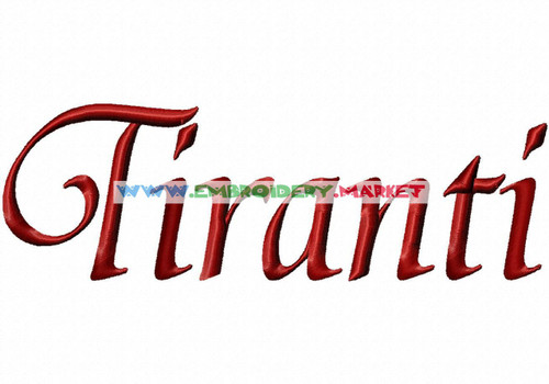 TIRANTI Machine Embroidery Designs Fonts Instant Download
