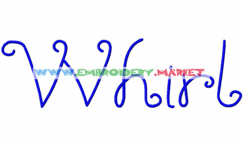 WHIRL Machine Embroidery Designs Fonts Instant Download