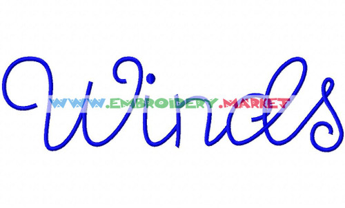 WING SONGS Machine Embroidery Designs Fonts Instant Download