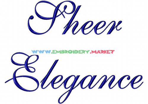 SHEER ELEGANCE Machine Embroidery Designs Fonts Instant Download