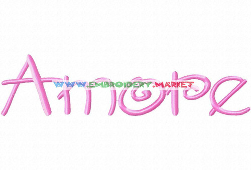 AMORE Machine Embroidery Designs Fonts Instant Download