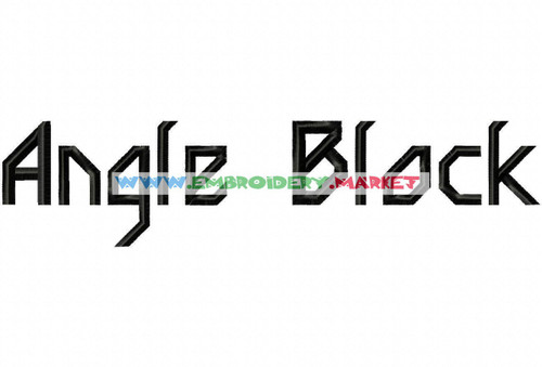 ANGLE BLOCK Machine Embroidery Designs Fonts Instant Download
