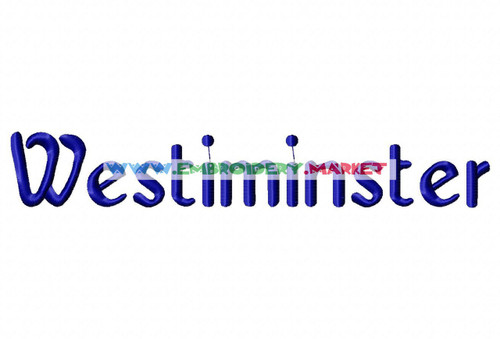 WEST MINSTER  Machine Embroidery Designs Fonts Instant Download