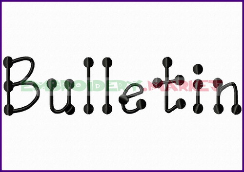 ABC BULLETIN Machine Embroidery Designs Fonts Instant Download