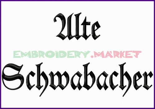 ALTE SCHWABACHER Machine Embroidery Designs Fonts Instant Download