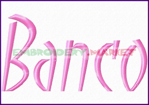BANCO Machine Embroidery Designs Fonts Instant Download