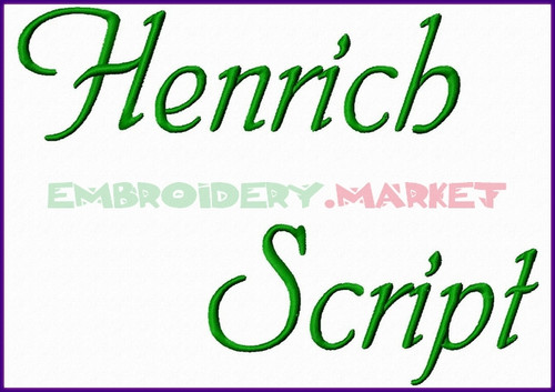 HEINRICH Machine Embroidery Designs Fonts Instant Download