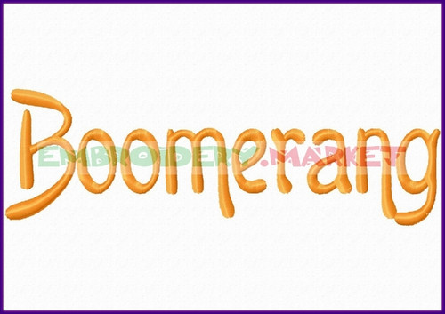 BOOMER RANG Machine Embroidery Designs Fonts Instant Download