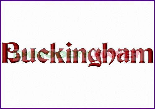 BUCKING HAM Machine Embroidery Designs Fonts Instant Download