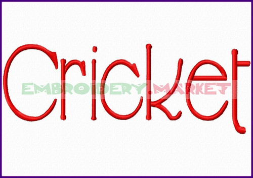 CRICKET Machine Embroidery Designs Fonts Instant Download