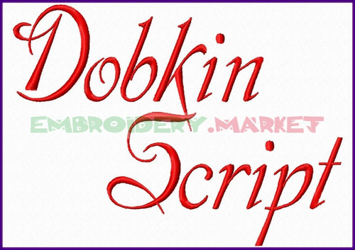 DOBKINS SCRIPT Machine Embroidery Designs Fonts Instant Download