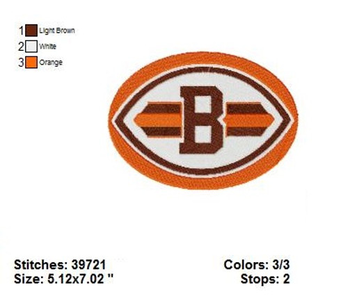 Cleveland Browns Pro Football NFL Embroidery Designs