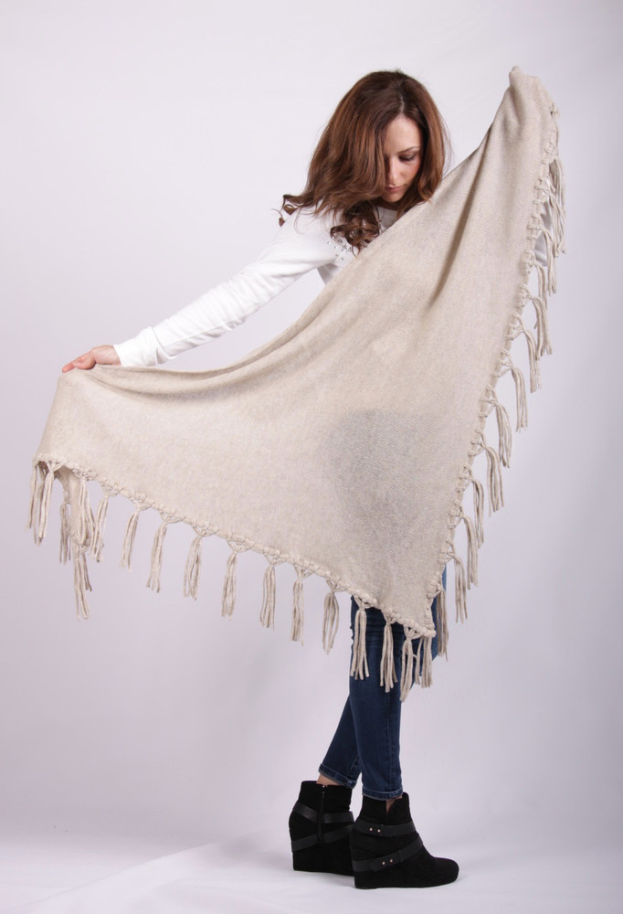 Agata  Lambswool Triangle Shawl