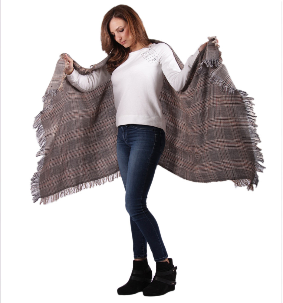 Adel Oversized Angora Wool Shawl
