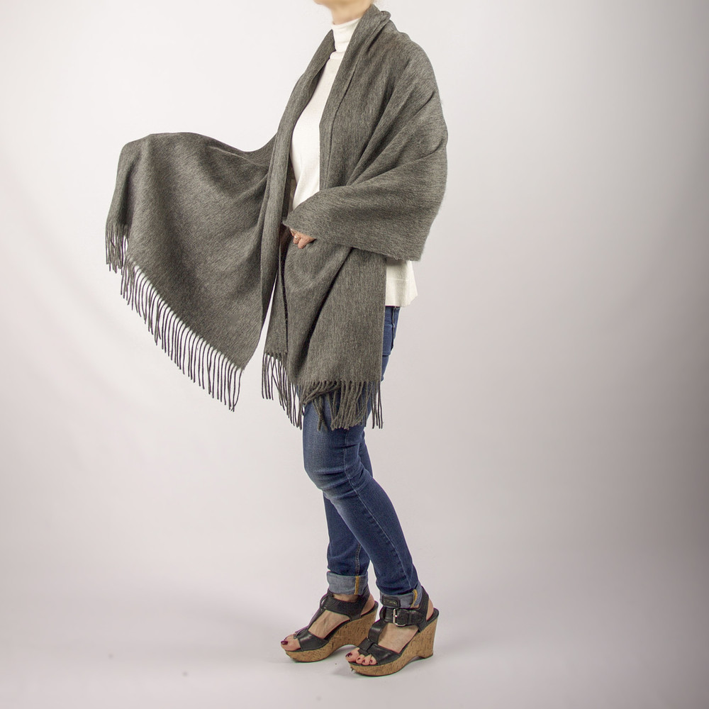 Alex  Oversized Cashmere & Wool Blend Scarf