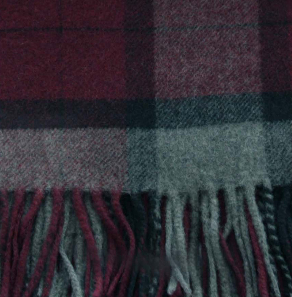 Sophia Boxed Cashmere Tartan Throw