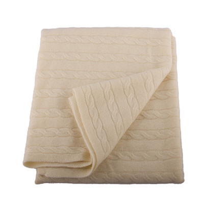 Angel Cashmere Cream Baby Blanket