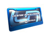 Car Details Anodized Aluminum License Plate Frame V2 Blue